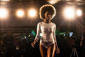 Summer feminine fashion inspired by Rio de Janeiro Copacabana Palace Hotel CCM Brand fashion show at 2016 FEVEST Festival in Nova Friburgo Rio de...