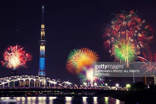 Summer Firework on Sumida River