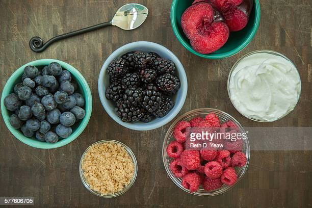 Summer fruit and yogurt