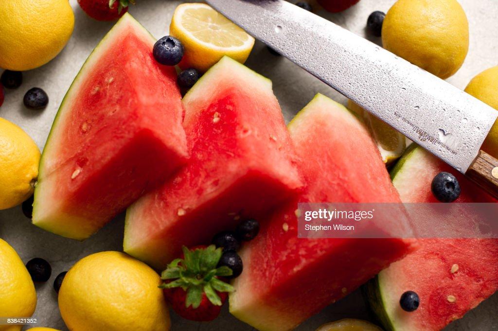 Summer fruit still life : Stock Photo