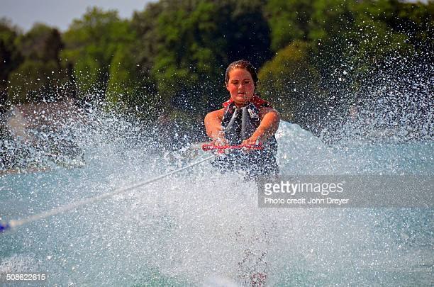 Summer fun waterskiing