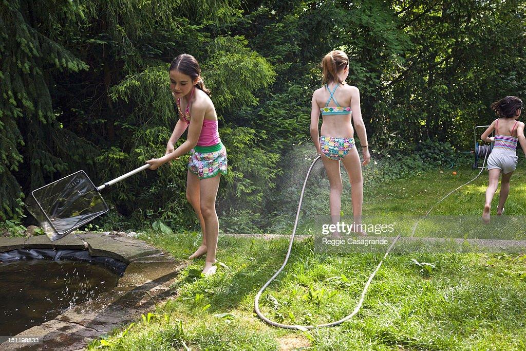 Summer garden fun : Stock Photo