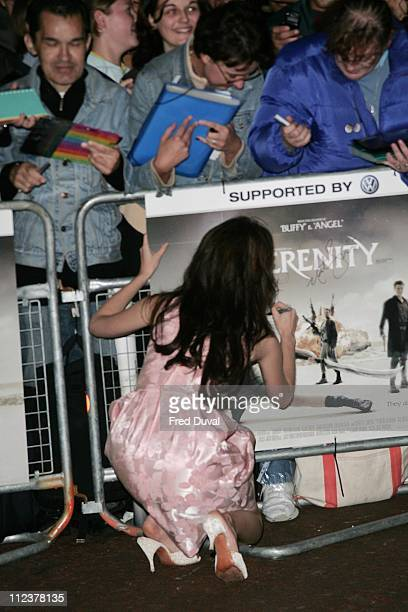 Summer Glau during 'Serenity' London Premiere Arrivals at Odeon West End in London United Kingdom