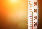window thermometer shows 42 degrees Celsius