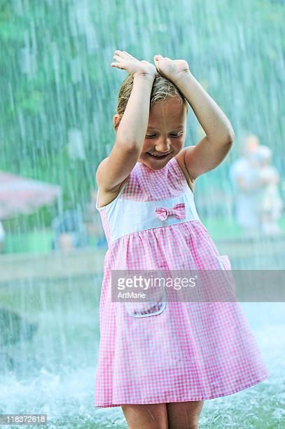 Sommer starkem Regen