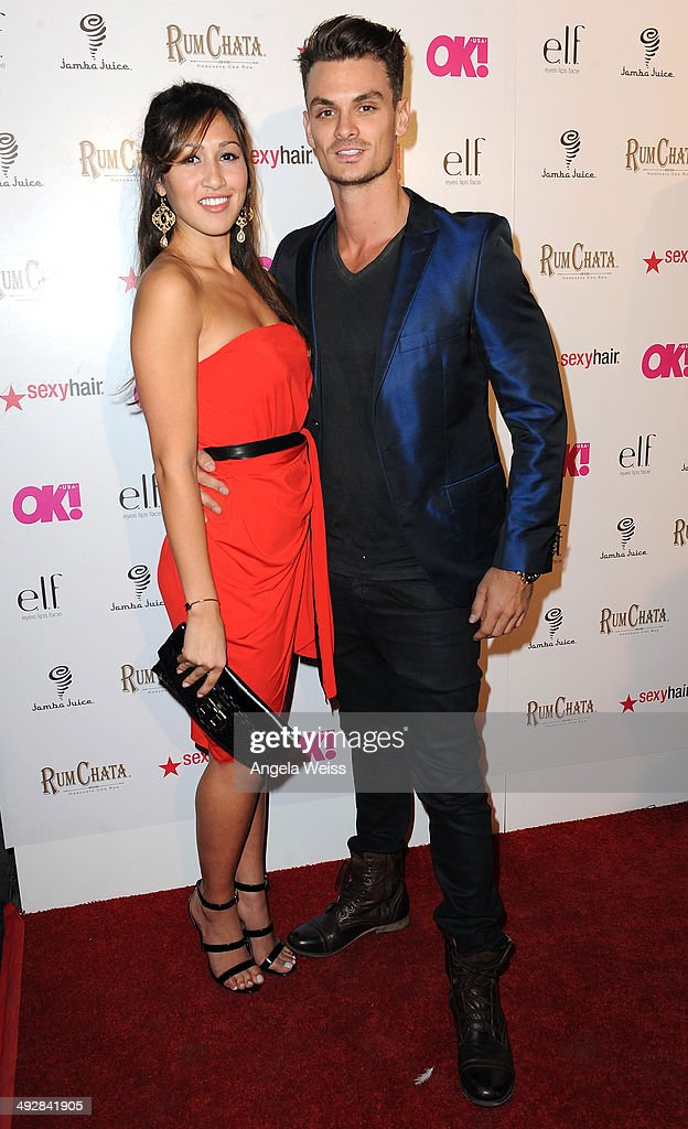 Summer Hernandez (L) and Julian Tocker attend OK Magazine's So Sexy L.A. Event at LURE on May 21, 2014 in Los Angeles, California.