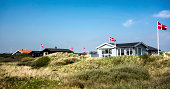 Summer houses at the island Fano in the Danish wadden sea