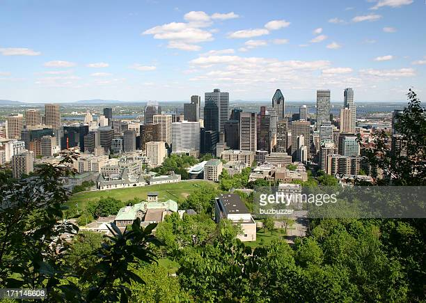 Summer in Montreal city