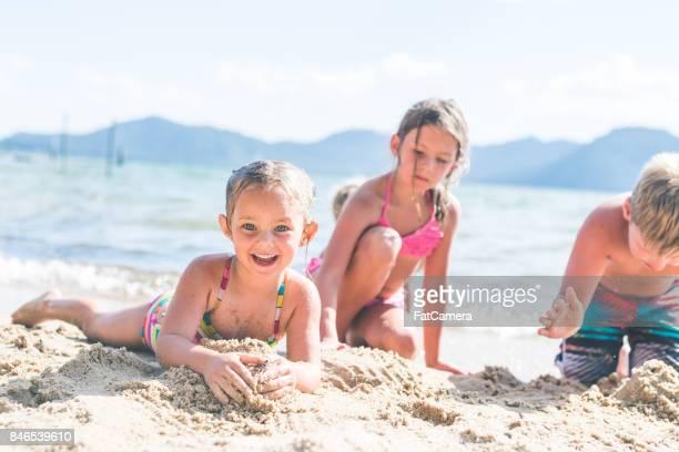 Summer kids on the lake having fun!