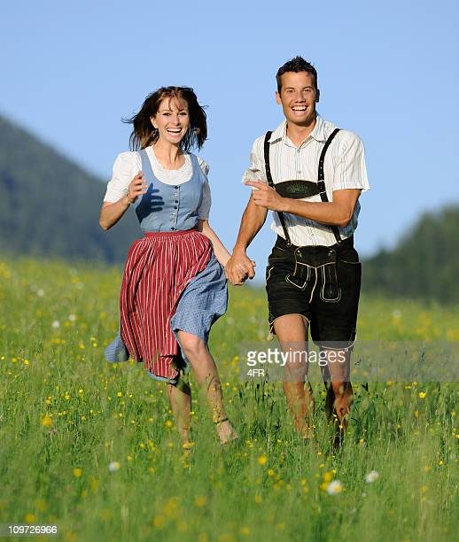 Summer Love, Couple in traditional Tracht