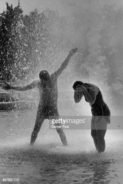 Summer may be dying but Its heat continues unabated much to the dismay of weatherweary Denverarea residents Two of then Pat Romero left and Debra...
