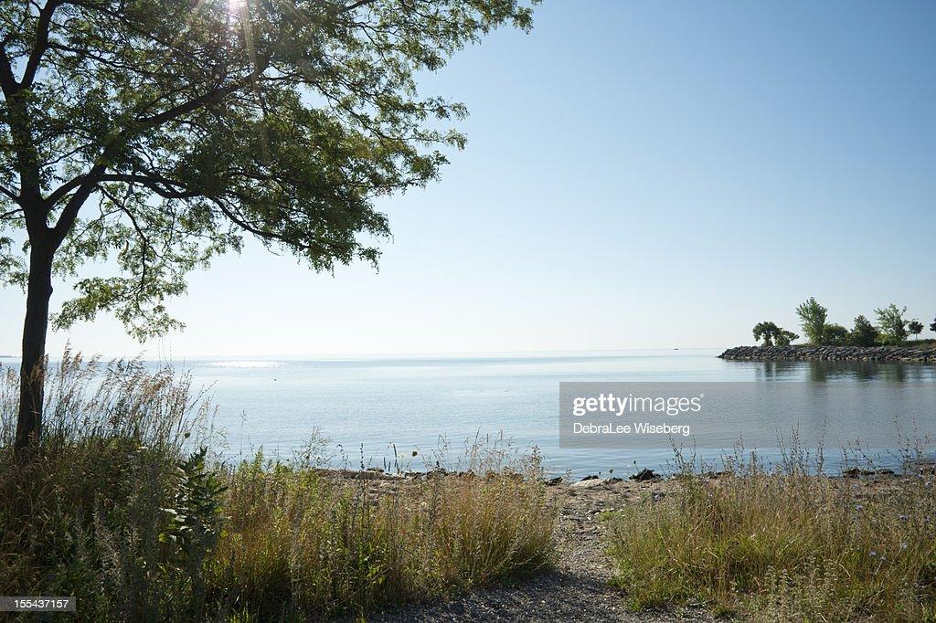 estate mattina sul lago ontario