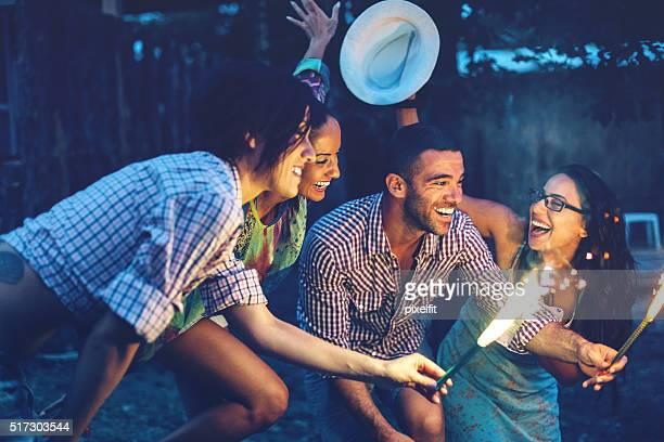 Nuit d'été de divertissement