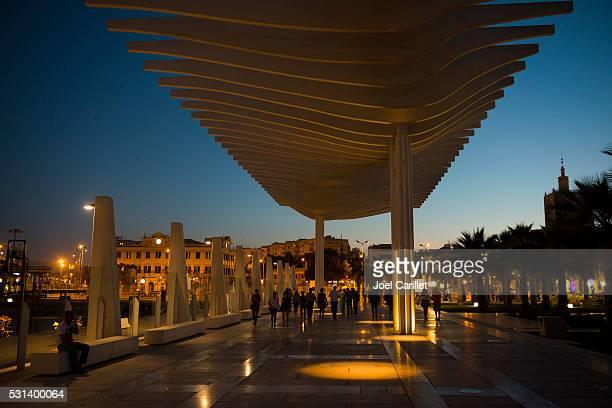 Summer night in Malaga, Spain