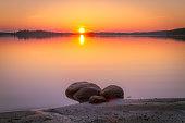 Summer night sunset from Kuhmo, Finland.
