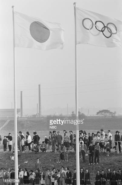 Japanese spectators outside the Olympic Stadium in Tokyo Japan Photo by NBCU Photo Bank