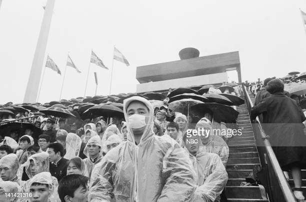 Japanese spectators watch the Olympic events at National Stadium in Tokyo Japan Photo by NBCU Photo Bank