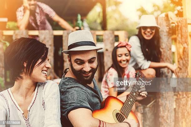 Verão festa ao ar livre