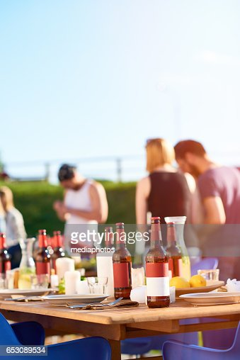 Summer party in backyard : Photo