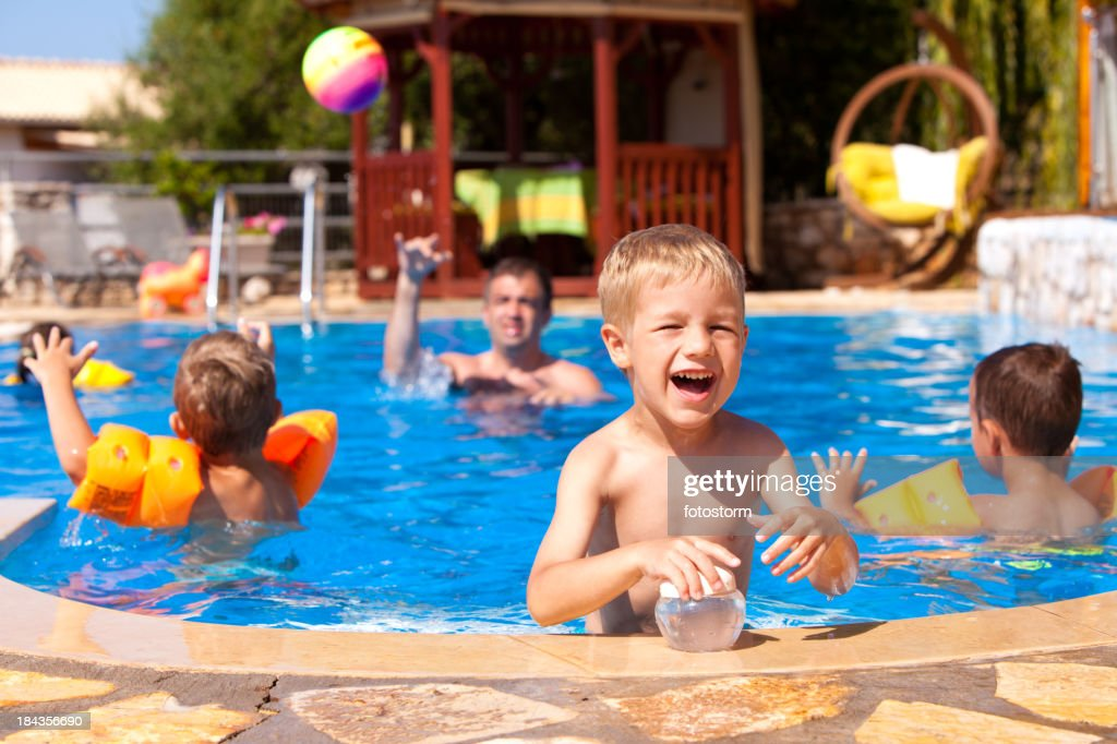 Summer Party In The Swimming Pool : Stock Photo