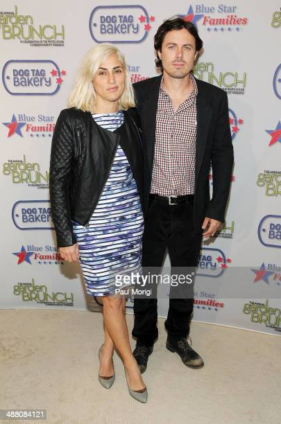 Summer Phoenix and Casey Affleck attend the 2014 Annual Garden Brunch at the BeallWashington House on May 3 2014 in Washington DC