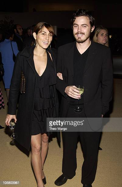 Summer Phoenix and Casey Affleck during Maybach Presentation Cocktail Reception at Guggenheim Museum in New York City New York United States