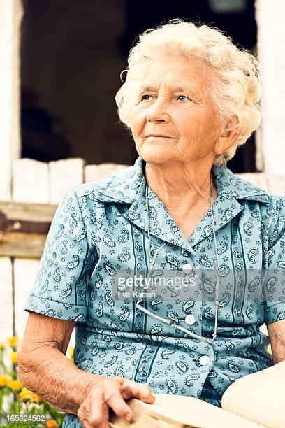 Summer portrait of a lovely grandma
