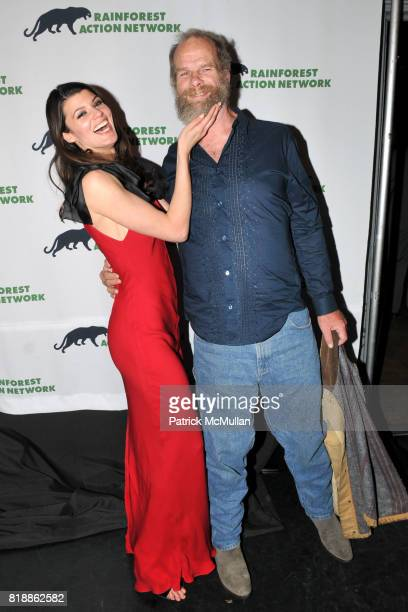 Summer Rayne Oakes and Mike Roselle attend RAINFOREST ACTION NETWORK's 25th Anniversary Benefit Hosted by CHRIS NOTH at Le Poisson Rouge on April 29...