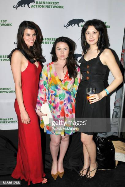 Summer Rayne Oakes Emma Grady and Marisa Feinberg attend RAINFOREST ACTION NETWORK's 25th Anniversary Benefit Hosted by CHRIS NOTH at Le Poisson...