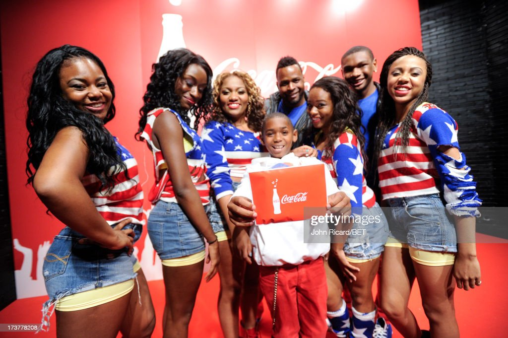 W. Summer Series Round 2 winners Devastation Dance Crew at BET's 106 & Park at BET Studios on July 17, 2013 in New York City.