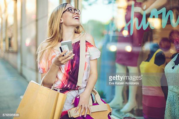 Summer shopping in the city