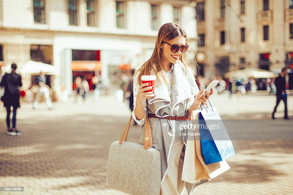 Summer shopping : Stock Photo