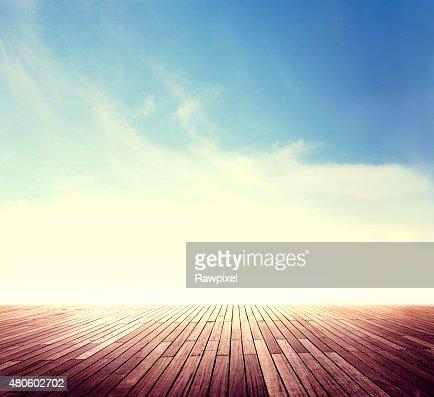 Summer Skyline Cloudscape Sunshine Outdoor Concept : Stock Photo