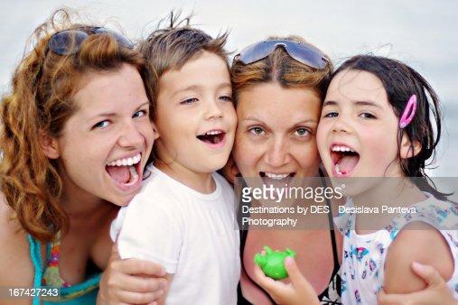 Summer smiles : Foto de stock