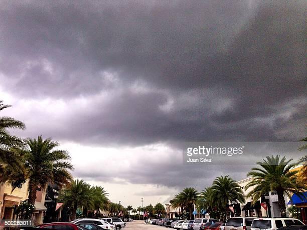 Summer storm at sunset Pembroke Pines Florida USA
