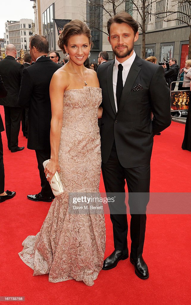 Summer Strallen (L) and guest arrive at The Laurence Olivier Awards 2013 at The Royal Opera House on April 28, 2013 in London, England.
