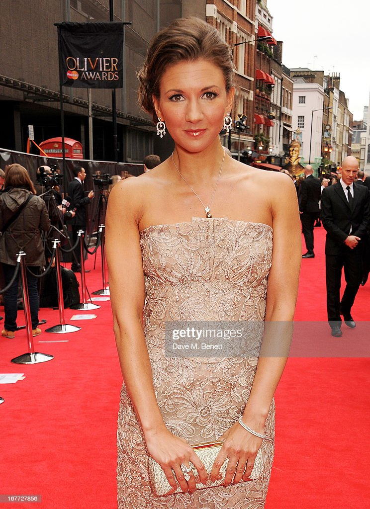 Summer Strallen arrives at The Laurence Olivier Awards 2013 at The Royal Opera House on April 28, 2013 in London, England.