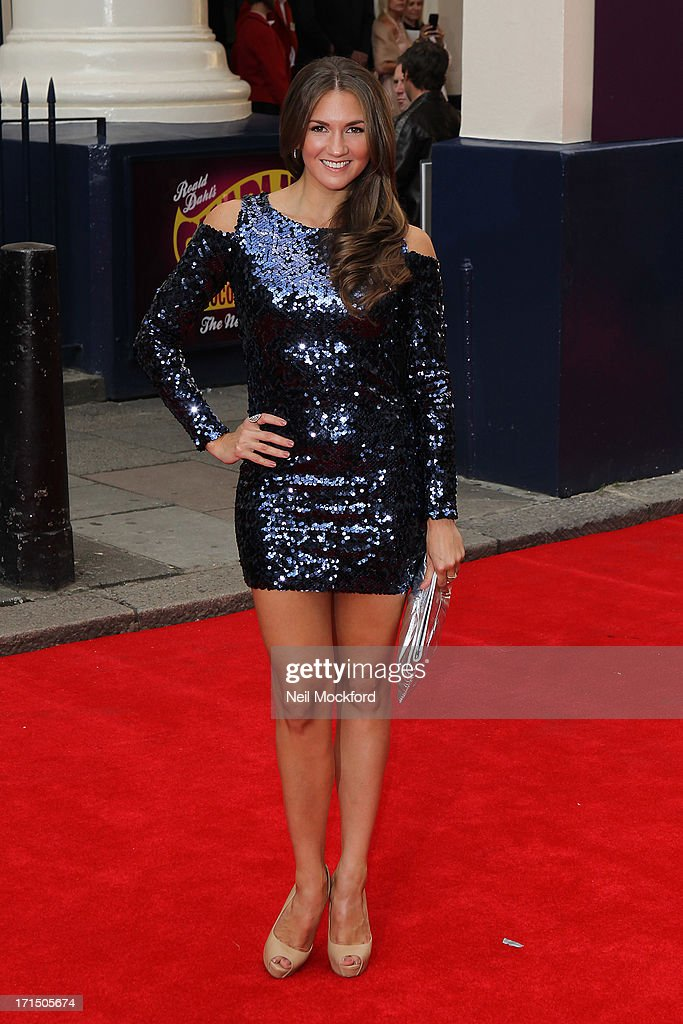 <a gi-track='captionPersonalityLinkClicked' href=/galleries/search?phrase=Summer+Strallen&family=editorial&specificpeople=2363519 ng-click='$event.stopPropagation()'>Summer Strallen</a> attends the press night for 'Charlie and the Chocolate Factory' at Theatre Royal on June 25, 2013 in London, England.