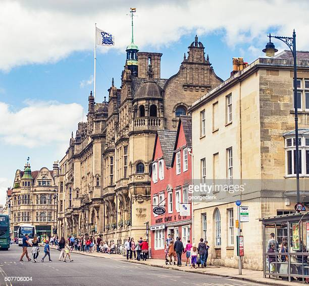 Summer street scene in Oxford, England