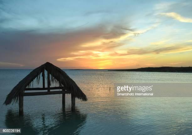 A summer sunset at the Caribbean sea near Cayo Santa Maria, Cuba