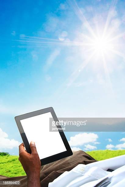 summer tablet PC businessman
