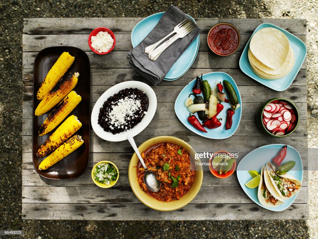 Summer taco spread  : Stock Photo