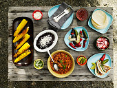 Summer taco spread