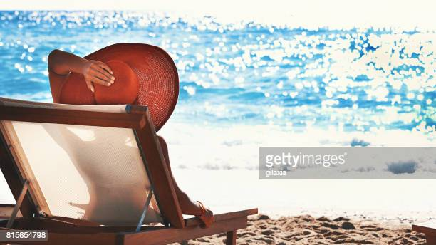 Summer vacation on a beach.