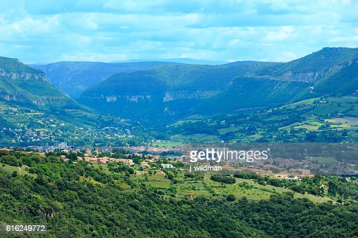 Summer valley River Tarn, France. : Stock Photo