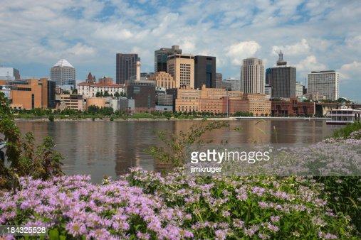 Summer view of St. Paul, Minnesota.