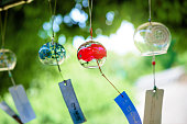 Summer wind chimes. Summer scenery in Japan. Accessories to heal the summer heat.