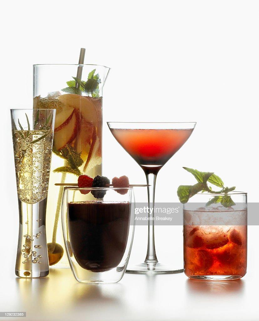 Summer Wine Cocktails Alcoholic Beverage : Stock Photo