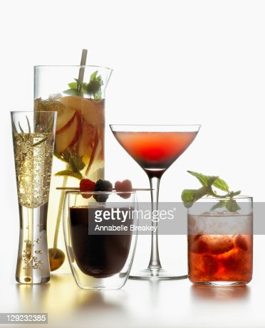 Summer Wine Cocktails Alcoholic Beverage : Stock Photo