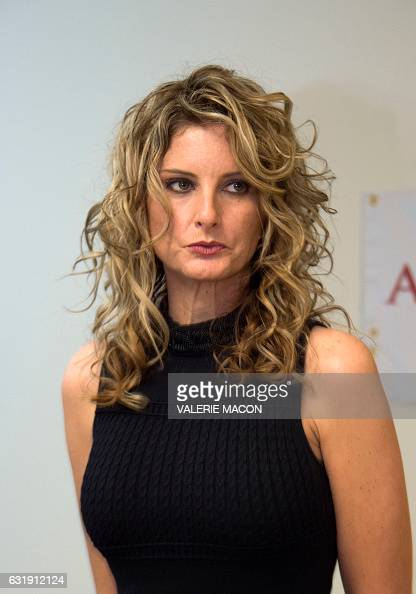 Summer Zervos attends a press conference with her attorney Gloria Allred about her lawsuit against presidentelect Donald Trump in Los Angeles...